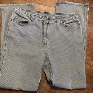 Chicos Jeans Size 2 Striped 12 14 Cotton Spandex